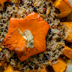 Ghapama - Stuffed, baked Pumpkin, Kef-style with a song